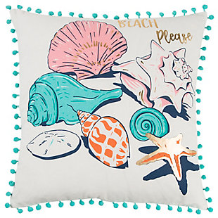 "Simply Southern 18""x18"" Poly Filled Shells Pillow, , large"
