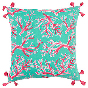 "Simply Southern 18""x18"" Poly Filled Coral Pillow, , large"