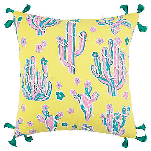 "Simply Southern 18""x18"" Poly Filled Cactus Pillow, , large"