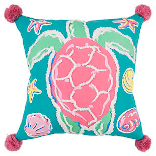 "Simply Southern 18""x18"" Poly Filled Turtle Pillow, , large"