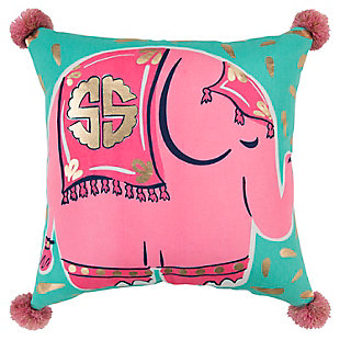 "Simply Southern 18""x18"" Poly Filled Elephant Pillow, , large"