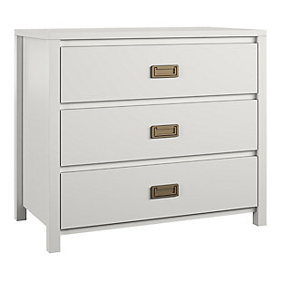Little Seeds Monarch Hill Haven 3 Drawer White Kids Dresser, , large