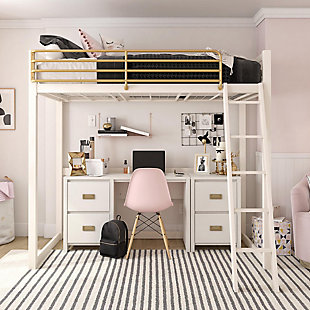 Little Seeds Monarch Hill Haven Single Pedestal Desk and Nightstand, , rollover