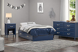 Little Seeds Sierra Ridge Mesa Twin Bed with Storage, Blue, , rollover