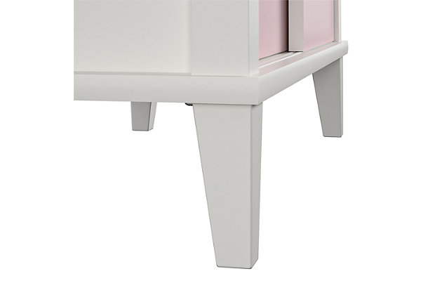 Little Seeds Monarch Hill Poppy Kids White Bookcase with Pink Doors, Pink/White, large