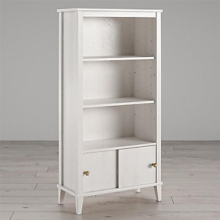 Little Seeds Monarch Hill Poppy Kids White Bookcase, White, large