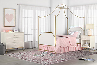 Little Seeds Monarch Hill Clementine White Nightstand, , rollover