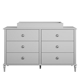 Little Seeds Rowan Valley Arden 6 Drawer Gray Changing Dresser, , large
