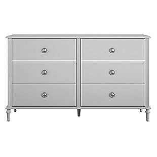 Little Seeds Rowan Valley Arden 6 Drawer Gray Kids Dresser, Light Gray, large