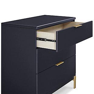 Delta Children Hendrix 3 Drawer Dresser with Changing Top, Black/Gray, large