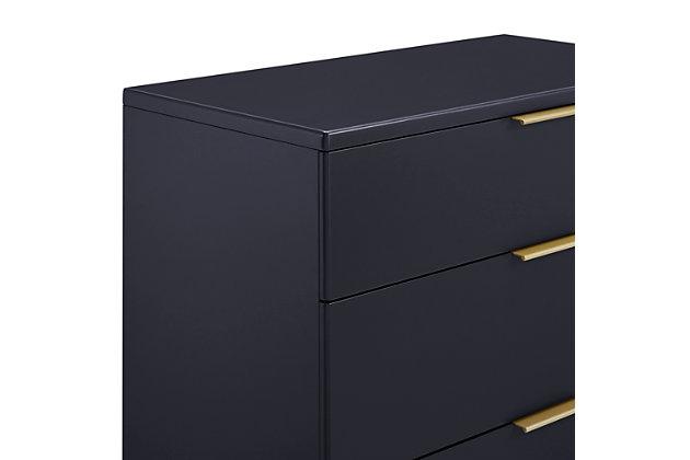 Delta Children Hendrix 3 Drawer Dresser, Midnight/Bronze, large