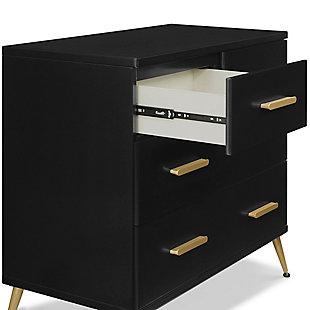 Delta Children Sloane 4 Drawer Dresser With Changing Top, Midnight/Bronze, large