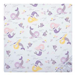 Sammy and Lou Rainbow Mermaid 2 Pack Microfiber Fitted Crib Sheets, , large