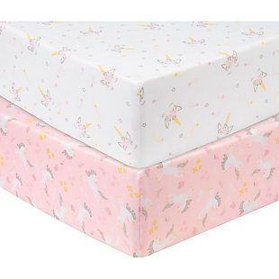 Sammy and Lou Mystical Dreams 2 Pack Microfiber Fitted Crib Sheets, , large
