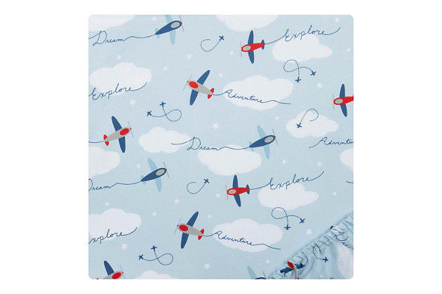 Sammy and Lou Airplanes 2 Pack Microfiber Fitted Crib Sheets, , large
