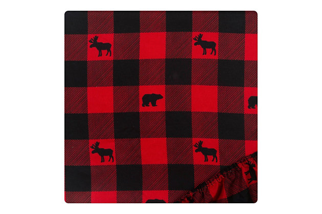 Sammy and Lou Lumberjack 2 Pack Microfiber Fitted Crib Sheets, , large