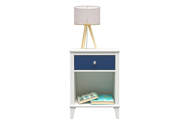 Little Seeds Monarch Hill Poppy Blue and White Nightstand, Blue, large