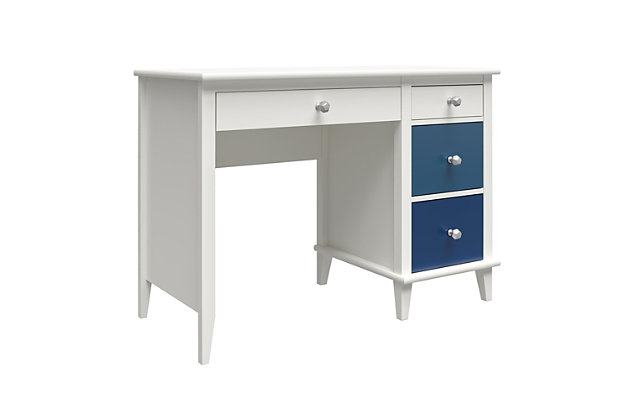 Little Seeds Monarch Hill Poppy Kids Blue and White Desk, Blue, large