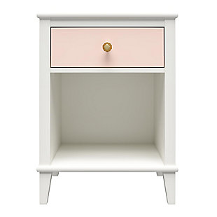 Little Seeds Monarch Hill Poppy Peach and White Nightstand, Peach, large