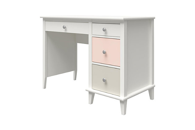 Little Seeds Monarch Hill Poppy Kids Peach and Taupe Desk, Peach/Taupe, large