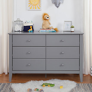 Carter's by Davinci Morgan 6-drawer Double Dresser In Gray, Gray, large