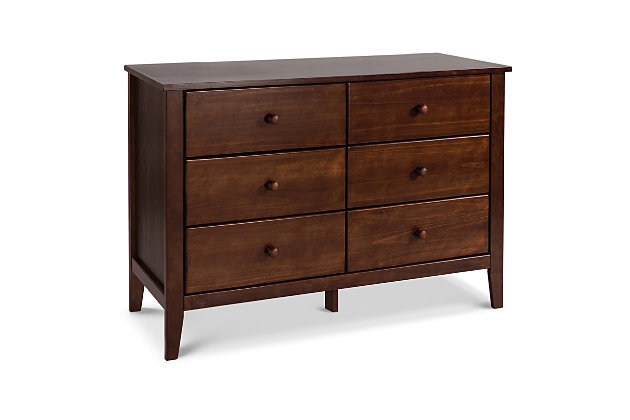 Carter's by Davinci Morgan 6-Drawer Double Dresser in Espresso, Espresso, large