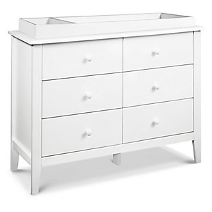 Carter's by Davinci Morgan 6-Drawer Double Dresser in White, White, large