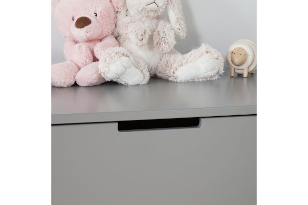 Carter's by Davinci Colby 6-Drawer Double Dresser in Gray, Gray, large