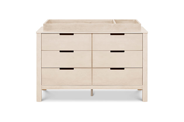 Carter's by Davinci Colby 6-Drawer Double Dresser in Washed Natural, Washed Natural, large