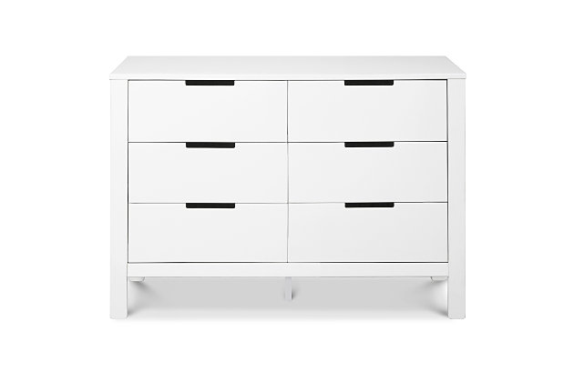 Carter's by Davinci Colby 6-Drawer Double Dresser in White, White, large