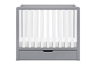 Carter's by Davinci Colby 4-in-1 Convertible Mini Crib With Trundle, Gray/White, large
