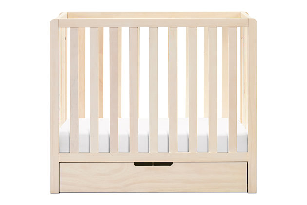 Carter's by Davinci Colby 4-in-1 Convertible Mini Crib with Trundle, Brown/Beige, large