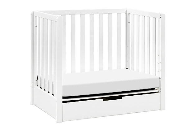 Carter's by Davinci Colby 4-in-1 Convertible Mini Crib with Trundle, White, large