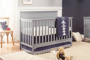 Carter's by Davinci Dakota 4-in-1 Convertible Crib in Gray, Gray, rollover