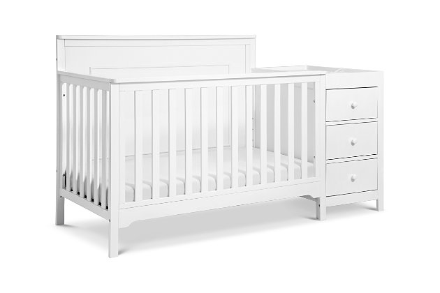 Carter's by Davinci Dakota 4-in-1 Crib and Changer Combo in White, White, large