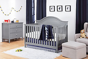 Carter's by Davinci Nolan 4-in-1 Convertible Crib in Gray, Gray, rollover