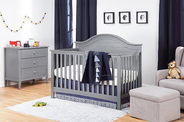 Carter's by Davinci Nolan 4-in-1 Convertible Crib in Gray, Gray, large