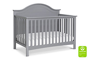 Carter's by Davinci Nolan 4-in-1 Convertible Crib in Gray, Gray, large
