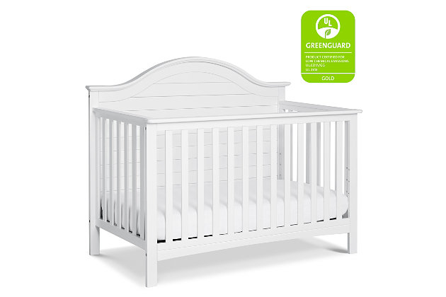 Carter's by Davinci Nolan 4-in-1 Convertible Crib in White, White, large