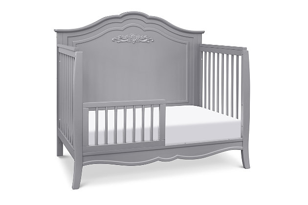 Carter's by Davinci Fiona 4-in-1 Convertible Crib in Gray, Gray, large