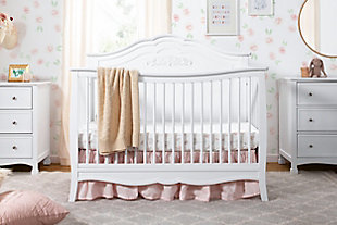 Carter's by Davinci Fiona 4-in-1 Convertible Crib in White, White, rollover