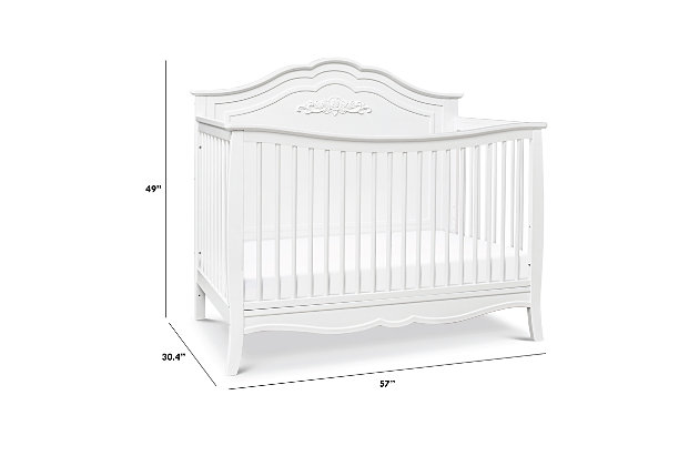 Carter's by Davinci Fiona 4-in-1 Convertible Crib in White, White, large