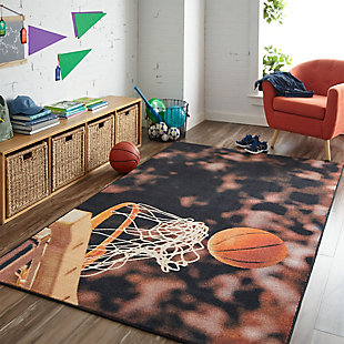 "Mohawk Prismatic Basketball Hoop Kids 3'4"" x 5' Area Rug, Multi, rollover"