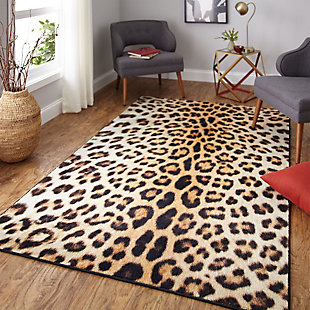 Mohawk Prismatic Cheetah Spots Neutral Kids 5' x 8' Area Rug, Brown, rollover