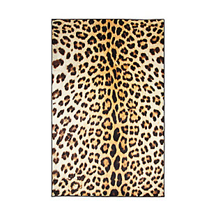Mohawk Prismatic Cheetah Spots Neutral Kids 5' x 8' Area Rug, Brown, large