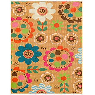 "Mohawk Prismatic Critters Floral Kids 3'4"" x 5' Area Rug, Multi, large"