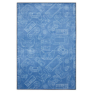 "Mohawk Prismatic In Control Denim Kids 3'4"" x 5' Area Rug, Light Blue, large"
