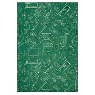Mohawk Prismatic In Control Green Kids 5' x 8' Area Rug, Green, large
