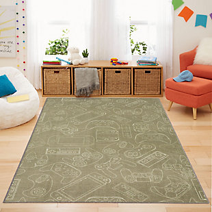 "Mohawk Prismatic In Control Grey Kids 3'4"" x 5' Area Rug, Gray, rollover"