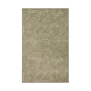 "Mohawk Prismatic In Control Grey Kids 3'4"" x 5' Area Rug, Gray, large"